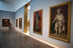 Museum of Fine Arts. Interior of the Museum of Fine Arts, Houston one of the larger art museums in the United States Stock Photos