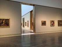 Museum of fine arts  interior Stock Photo