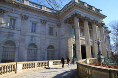 Driveway in front of Museum of Fine Arts boston Royalty Free Stock Photos