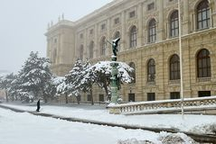 Museum of Fine Arts in Vienna, left corner from the entrance stock image