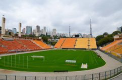 The museum of Football is a space devoted to the different subjects involving the practice, the history and cur, Sao Paulo, Brazi. Sao Paulo, Brazil: The museum stock image