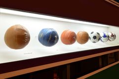 The museum of Football is a space devoted to the different subjects involving the practice, the history and cur, Sao Paulo, Brazi. Sao Paulo, Brazil: The museum stock photo