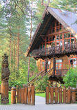"""Museum of Forest. """"Girios aidas"""" in Lithuania stock image"""
