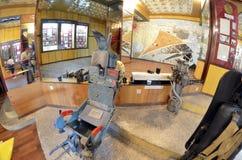 Museum of former Soviet anti-ballistic missile testing range Sary Shagan. Stock Photo