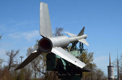 Museum of former Soviet anti-ballistic missile testing range Sary Shagan. Stock Image