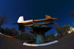 Museum of former Soviet anti-ballistic missile testing range Sary Shagan. Stock Images
