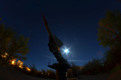 Museum of former Soviet anti-ballistic missile testing range Sary Shagan. Stock Photos