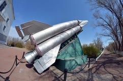 Museum of former Soviet anti-ballistic missile testing range Sary Shagan. Royalty Free Stock Photos