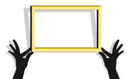 Museum frame. Creative design of museum frame Royalty Free Stock Photo