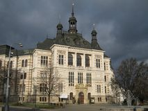 Museum. Front view of museum in Pilsen Royalty Free Stock Photography