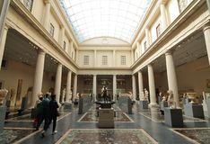 Museum Gallery. The Roman and Greek Galleries at the Metropolitan Museum of Art in New York City Stock Photo