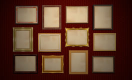 Museum or Gallery frames Stock Photo