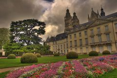 Museum with garden Royalty Free Stock Photo