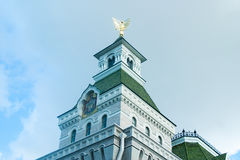 The Museum of Generalissimo Suvorov. Detail of the facade with Russian Imperial eagle Stock Images