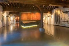 Museum at Ghent interior stock images