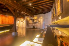 Museum at Ghent interior royalty free stock photos