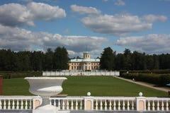 Museum-gods Arkhangelskoe. Slott. Ryssland. Arkivbilder