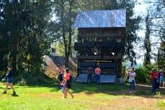 Museum of the gold mine  Rosia Montana, Apuseni Mountains, Transylvania. Rosia Montana is a commune of Alba County in the Apuseni Mountains of western Royalty Free Stock Image