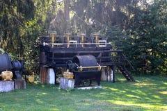 Museum of the gold mine Rosia Montana, Apuseni Mountains, Transylvania. Rosia Montana is a commune of Alba County in the Apuseni Mountains of western Stock Image