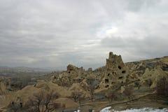Museum Goreme för öppen luft i Cappadocia Arkivfoto