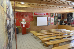 Museum hall in USSR heritage park in Grutas, Lithuania Royalty Free Stock Photo