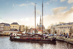 The museum harbor of Gouda Royalty Free Stock Images