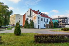 Museum of History of Belarusian Cinema building in Minsk. Belarus royalty free stock photo