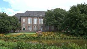 Museum for the history of Hamburg. Establishing shot of the Hamburg museum for the History of Hamburg stock video