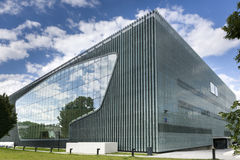 Museum of the History of Polish Jews in Warsaw, Poland. WARSAW, POLAND - JUNE 19, 2014: Museum of the History of Polish Jews, built in years 2009-2013 is become Stock Images