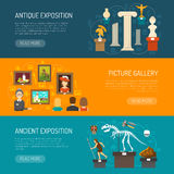 Museum Horizontal Banners Royalty Free Stock Images