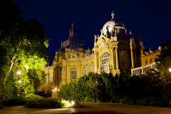 Museum of Hungarian Agriculture at night Royalty Free Stock Photos
