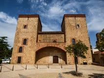 Museum i Alcazabaen av Badajoz, Spanien Arkivbilder