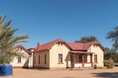 Museum i de gamla postföreståndarna som bygger i Rehoboth Royaltyfri Bild
