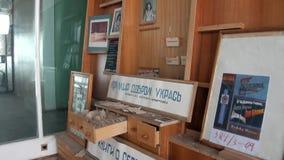 Museum i på burk bosättningPyramiden Spitsbergen arktisk arkivfilmer