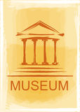 Museum icon. Hand drawing museum icons in the abstract background Stock Photos