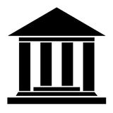 Museum icon. Museum vector icon on white background Royalty Free Stock Photo