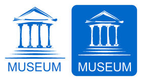 Museum icons. Hand drawing museum icons with subscription Stock Images
