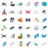 Museum icons set, isometric style. Museum icons set. Isometric style of 36 museum vector icons for web isolated on white background Royalty Free Stock Photo