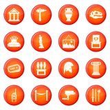 Museum icons vector set Royalty Free Stock Photos