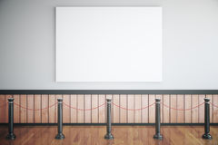 Museum interior with blank poster Stock Photos