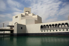 Museum of Islamic Art in Doha, Qatar. Main entrance of the Museum of Islamic Art in Doha, Qatar. The museum is a wonderful, modern building designed by renown Stock Images