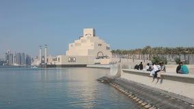 Museum of Islamic Art in Doha. Qatar, stock footage