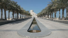 Museum of Islamic Art in Doha stock footage