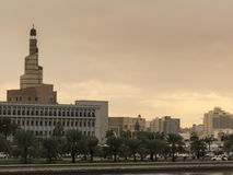 Museum of Islamic Art dominates skyline in Doha, Qatar Royalty Free Stock Photo