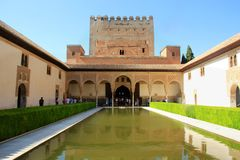 Islamic Palace of Grenada in Spain. Museum in the Islamic Palace of Grenada in Spain, Andalusia Royalty Free Stock Photos