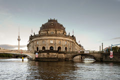 Museum Island, Berlin. The Berlin museum island with bode museum and the TV tower in the background Royalty Free Stock Image