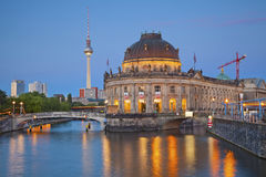 Museum Island in Berlin. Image of Museum Island and TV Tower in Berlin, Germany stock images