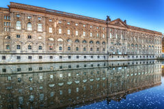 Museum island in Berlin. Museum island with reflection in Spree river at dawn, Berlin. Germany stock photo