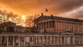 Museum island. Berlin. Sunset. Museum island from the Spree river side. Art museum. Berlin. Sunset Stock Images