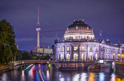 Museum Island in Berlin. Museum Island and TV Tower in Berlin, Germany royalty free stock photos